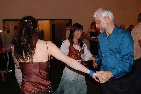 Vanessa dancing at the CPC Contra Dance