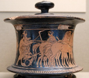 Greek jar showing wedding procession