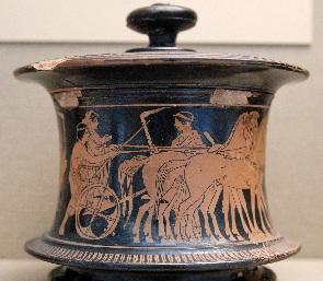 Greek jar showing wedding procession